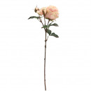 Rose Dior gevuld, lengte 64cm, 2 bloemen, 1 Knos